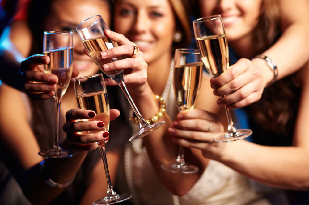 Bachelorette Beach and Champagne Night Party in Charleston SC
